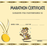 Marathon Participation Certificate Template Free 4 Intended For Finisher Certificate Templates