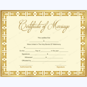 Marriage Certificate 10 – Word Layouts | Marriage regarding Quality Marriage Certificate Template Word 10 Designs