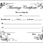 Marriage Certificate Templates – Microsoft Word Templates Pertaining To Blank Marriage Certificate Template