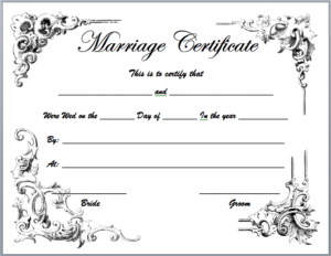Marriage Certificate Templates – Microsoft Word Templates throughout Marriage Certificate Editable Template