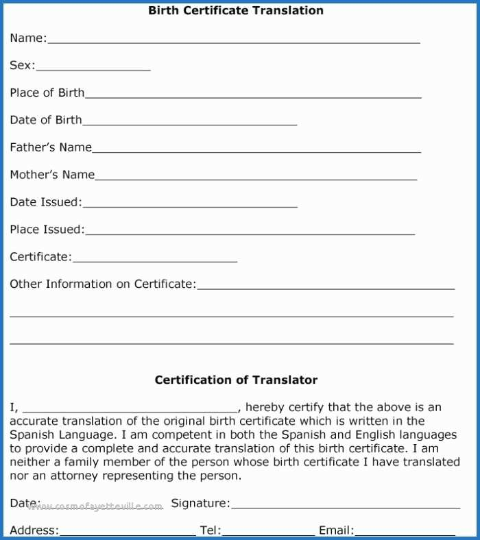 Marriage Certificate Translation From Spanish To English with Birth Certificate Translation Template