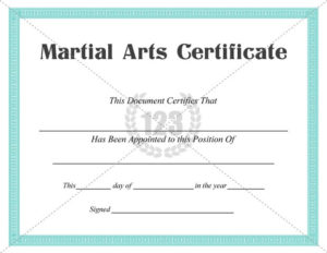 Martial Arts #Certificate #Templates | Art Certificate with regard to Martial Arts Certificate Templates