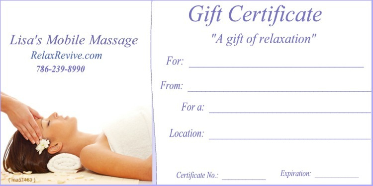 Massage Gift Certificate Templates | Gift Certificate Templates inside Massage Gift Certificate Template Free Download