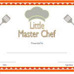 Master Chef Certificate Template Free 2 | Certificate Regarding Best Certificate Of Cooking 7 Template Choices Free