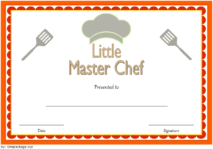 Master Chef Certificate Template Free 2   Certificate regarding Best Certificate Of Cooking 7 Template Choices Free