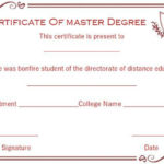 Master Degree Diploma Certificate Templates | Degree Throughout Best Masters Degree Certificate Template