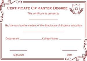 Master Degree Diploma Certificate Templates   Degree throughout Best Masters Degree Certificate Template
