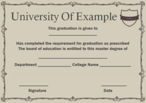 Masters Degree Certificate   Degree Certificate, Masters intended for Best Masters Degree Certificate Template