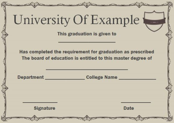 Masters Degree Certificate | Degree Certificate, Masters intended for Best Masters Degree Certificate Template