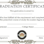 Masters Degree Certificate Templates | Degree Certificate In Best University Graduation Certificate Template