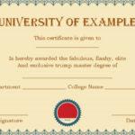 Masters Degree Certificates | Degree Certificate, Masters In Best Masters Degree Certificate Template