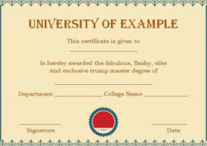 Masters Degree Certificates   Degree Certificate, Masters in Best Masters Degree Certificate Template