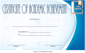 Math Achievement Certificate Template 7 Free Download within Math Certificate Template 7 Excellence Award