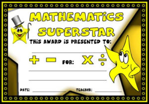 Math Awards Certificates Intended For Math Achievement Certificate Printable