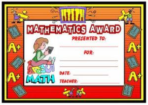 Math Awards Certificates | Teaching Math, School Award inside Math Award Certificate Template