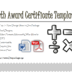 Math Certificate Free Template | Certificate Templates pertaining to Fresh Math Certificate Template 7 Excellence Award