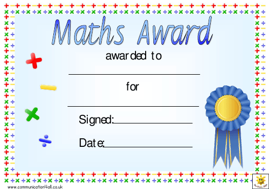 Math Certificate Templates Pdf. Download Fill And Print For for Math Award Certificate Template