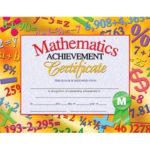 Mathematics Achievement Certificate, H Va681 | Certificate Within 9 Math Achievement Certificate Template Ideas