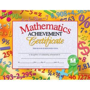 Mathematics Achievement Certificate, H-Va681   Certificate within 9 Math Achievement Certificate Template Ideas