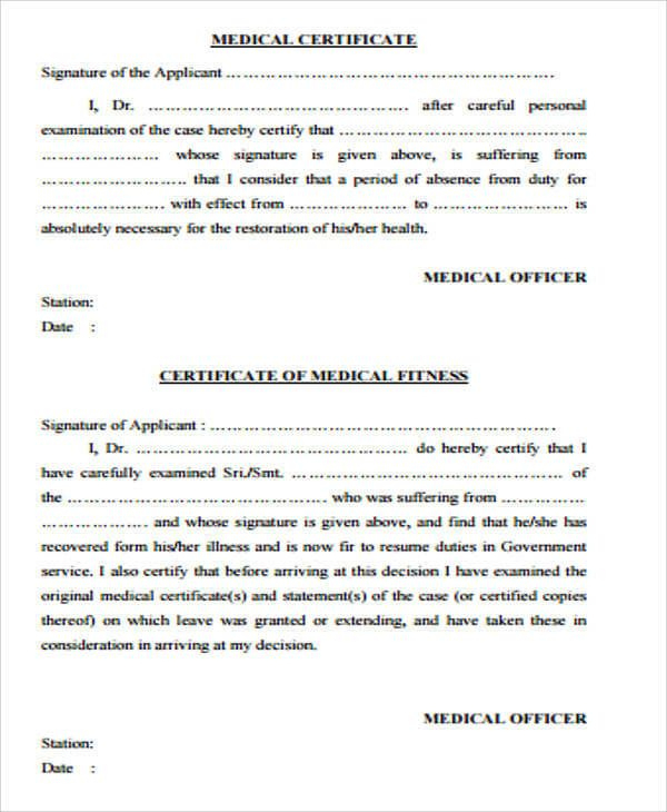 Medical Certificate | Doctors Note Template, Certificate regarding Free Fake Medical Certificate Template