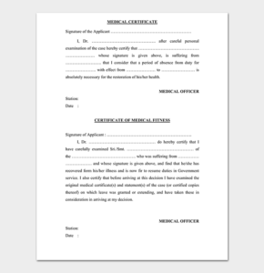 Medical Certificate From Doctor Template | 17+ Free Samples in Physical Fitness Certificate Templates