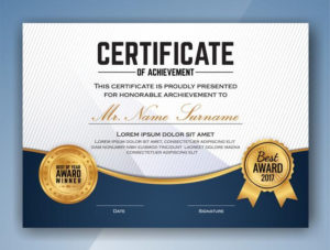Mehrzweck Professional Certificate Template Design. Vektor for Best Professional Award Certificate Template