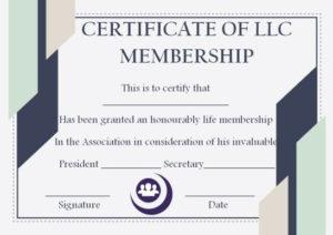 Membership Certificate Template – Template Sumo for Llc Membership Certificate Template Word