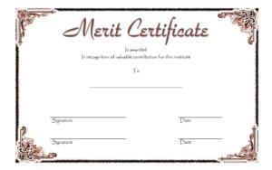 Merit Certificate Template 4 Free | Certificate Templates inside Fresh Certificate Of Merit Templates Editable