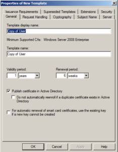 Microsoft Ca – Create A New Certificate Template | It'S Full within Fresh Active Directory Certificate Templates
