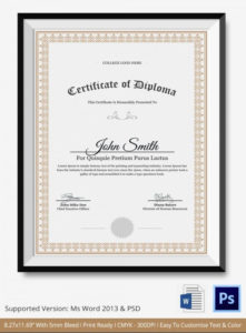Microsoft Word Diploma Template Inspirational Diploma within Fresh Word 2013 Certificate Template