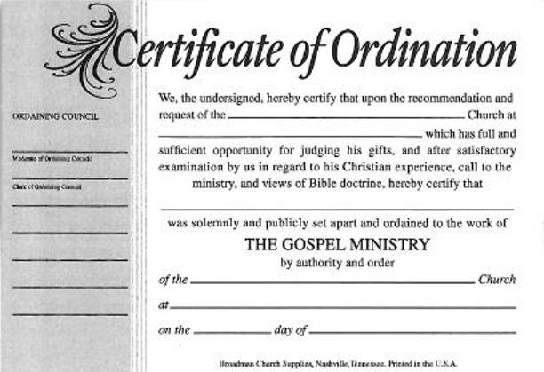 Minister License Certificate Template - Carlynstudio for Unique Ordination Certificate Templates