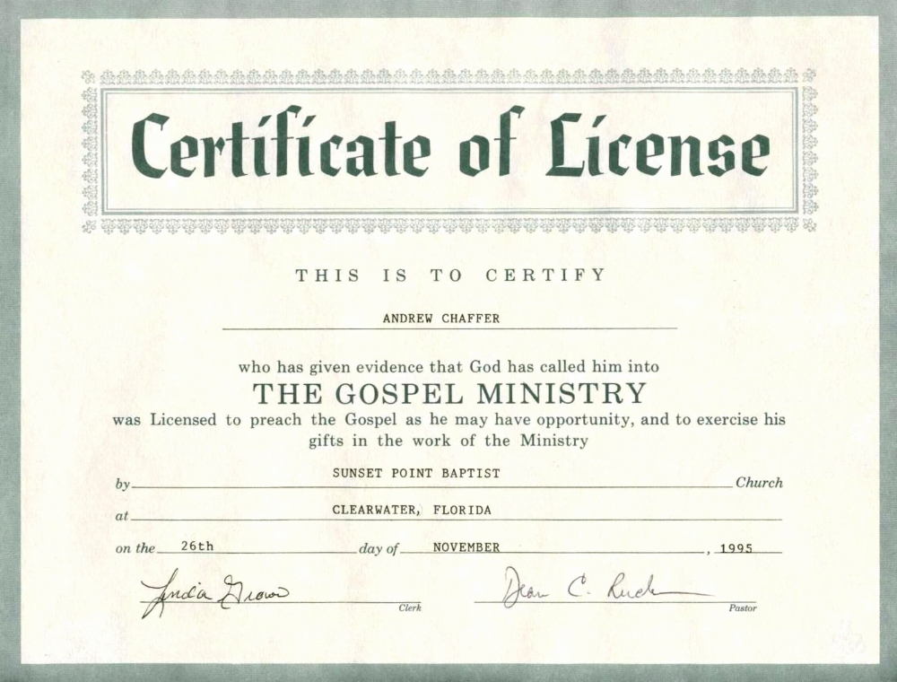 Minister License Certificate Template Template Modern Design in Unique Certificate Of License Template