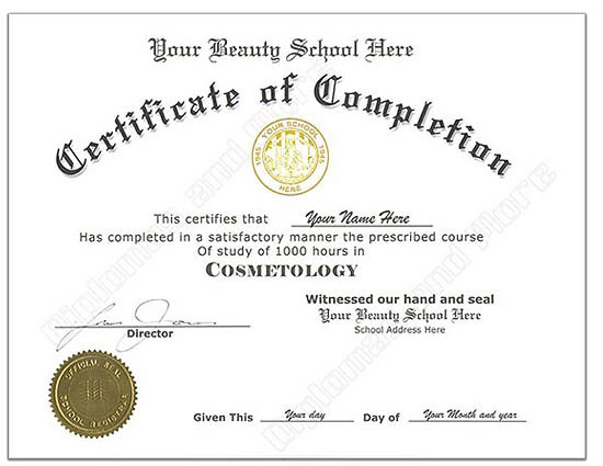 Mock Certificate Template (4) - Templates Example for Quality Mock Certificate Template