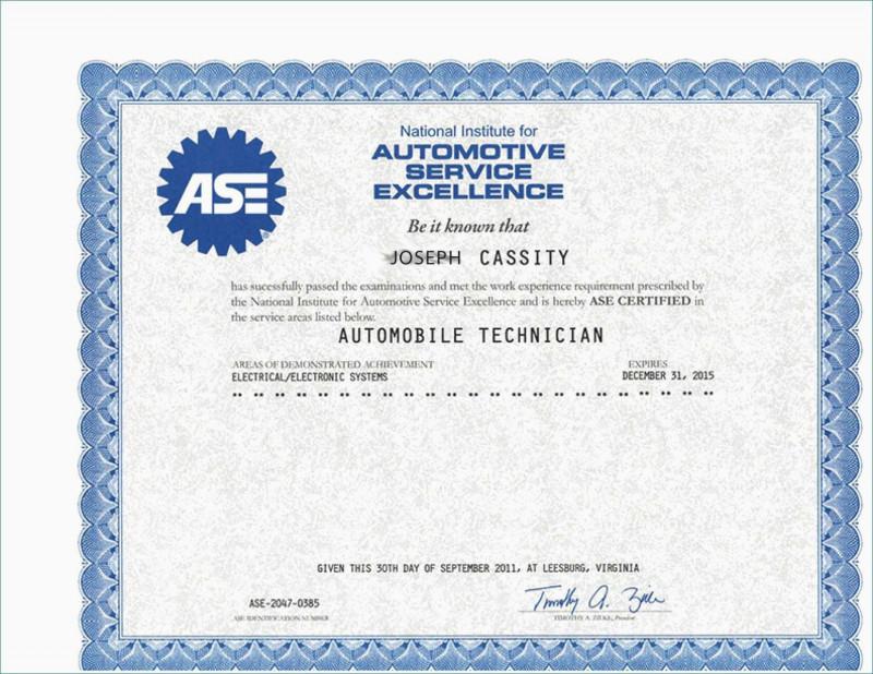 Mock Certificate Template Unique Fake Ase Certificate in Quality Mock Certificate Template