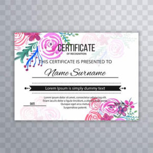 Modern Beautiful Certificate Design Template – Download Free within Beautiful Certificate Templates