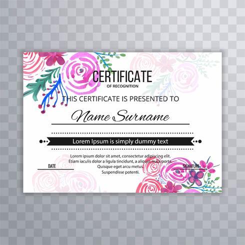Modern Beautiful Certificate Design Template - Download Free within Beautiful Certificate Templates