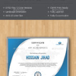 Modern Best Editable Certificate Templates In 2020  Download Now With Unique Landscape Certificate Templates