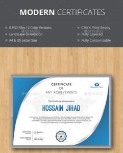 Modern Best Editable Certificate Templates In 2020 -Download Now with Unique Landscape Certificate Templates