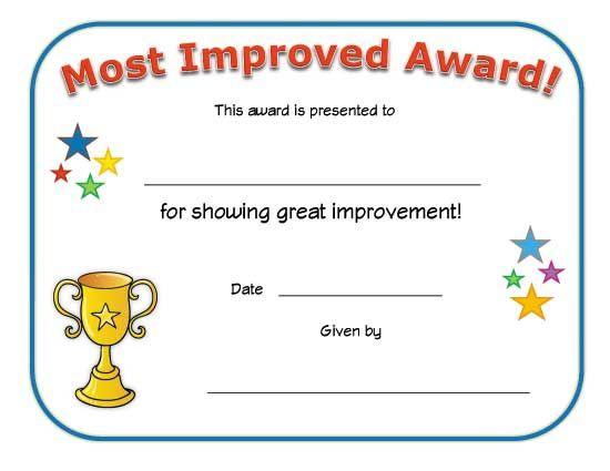 Most Improved Award Certificate | Big Boy Potty, Big Girl with regard to Good Behaviour Certificate Template 10 Kids Awards