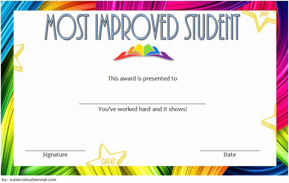 Most Improved Certificate Template Beautiful Most Improved pertaining to New Student Council Certificate Template 8 Ideas Free