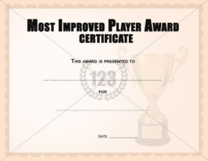 Most Improved Player Award Certificates Templates | Award within Most Improved Player Certificate Template