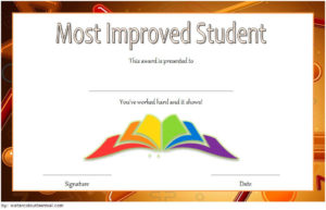 Most Improved Student Certificate Template Free Download 1 pertaining to Quality Most Improved Student Certificate