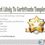Most Likely To Certificates Unique Most Likely To Regarding Fresh Most Likely To Certificate Template 9 Ideas