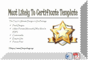 Most Likely To Certificates Unique Most Likely To within Unique Baptism Certificate Template Word 9 Fresh Ideas