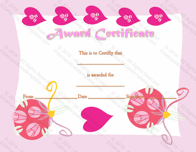 Most Loving Certificate Of Appreciation Template throughout Love Certificate Templates