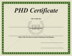 Most Valuable Phd Certificates For Download – 123Certificate with regard to Doctorate Certificate Template