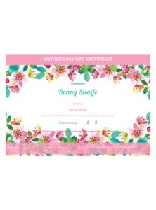Mother'S Day Gift Certificate Template – Pdf Templates   Jotform regarding Unique Present Certificate Templates