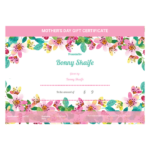 Mother'S Day Gift Certificate Template – Pdf Templates | Jotform With Regard To Unique Mothers Day Gift Certificate Templates