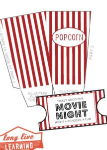 Movie Night Pack Popcorn Box Movie Tickets Happy Trails Wild with regard to Movie Gift Certificate Template