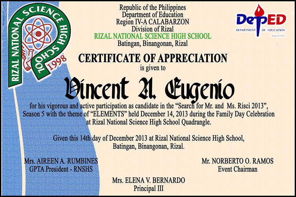 Mr. And Ms. Risci 2013 Certificate Templates On Behance throughout Pageant Certificate Template